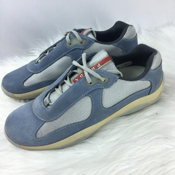 blue prada americas cup sneakers, OFF